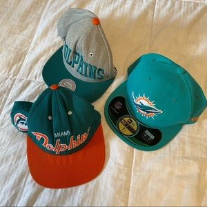 🍒Miami Dolphins Snapback Hats Bundle